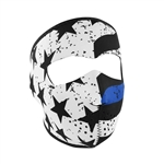 Thin Blue Line Motorcycle Face Mask