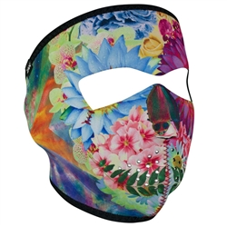 Flower Skull Motorcycle Ladies Face Mask