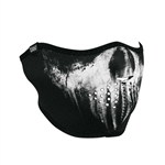 Half Motorcycle Face Mask: Skull Ghost