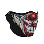 Half Motorcycle Face Mask: Chicano Clown