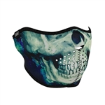 Half Motorcycle Face Mask: Painted Skull