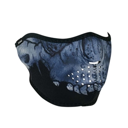Midnight Skull Motorcycle Face Mask