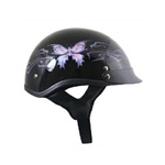 Half Motorcycle Helmets for Women - Purple Butterfly