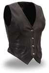Womens Motorcycle Vest - Xpert Performance Leather