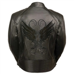 Embroidered Black Leather Motorcycle Jackets: Milwaukee Leather Ladies