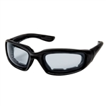 Foam Padded Transitional Motorcycle Glasses