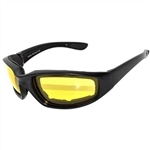 Biker Transitional Motorcycle Glasses - Yellow