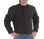 Mens Vented Body Armor Textile Motorcycle Jacket