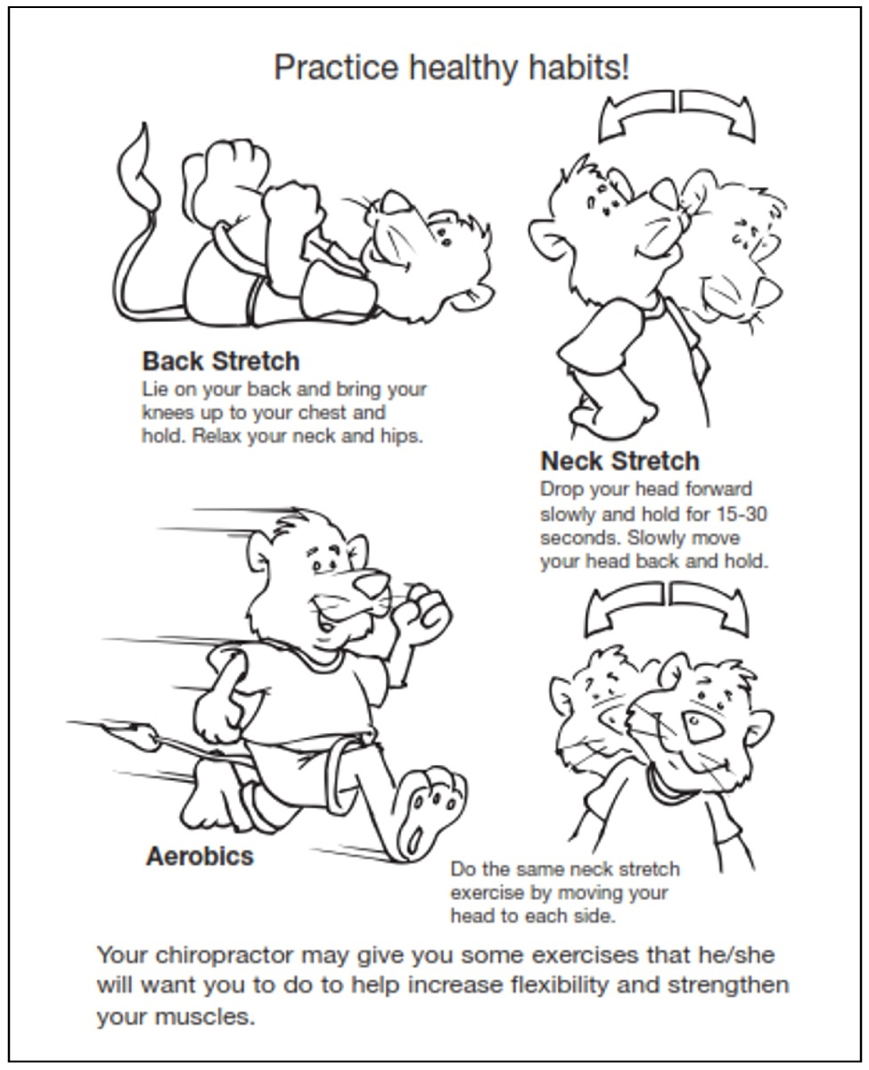 Chiropractic Kids Coloring Sheets | 1200x975