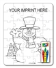 Snowman Coloring and Puzzle Set