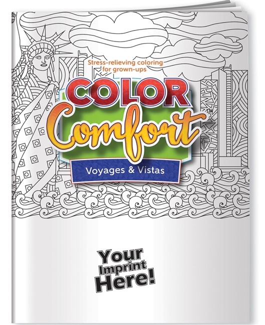 Voyages and Vistas Coloring Book for Adults