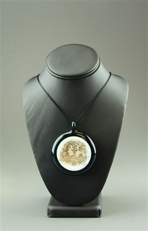 Disc Pendant by Huxtable Glass
