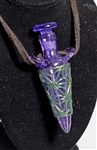 Purple Rain Medicine Bottle Pendant by Ryan Jenkins