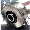 8mm Bore Bearing with 35mm 440C Stainless Steel Pulley U Groove Track Roller Bearing 8x35x17mm