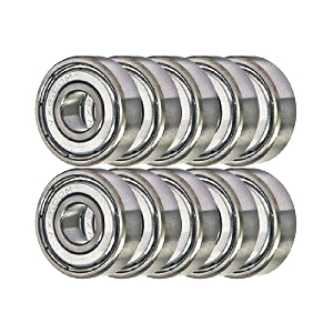 10 Electric Motor Quality 608ZZ 8x22x7mm Chrome Steel with Steel Cage