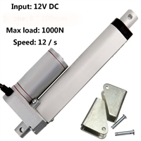 8 Inch Stroke 1000N 225 lbs DC 12 Volt  Linear Actuator with mounting brackets
