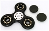 Fidget Hand Spinner Toy with Center full Ceramic ZRO2 Bearing, 3 outer bronze Bearings
