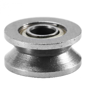3mm Bore Bearing with 12mm Shielded  Pulley V Groove Track Roller Bearing 3x12x4mm