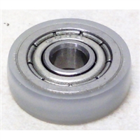 4mm Bore Bearing with 14mm nylon small plastic ball bearing roller Tire 4x14x4mm