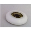 5mm Bore Bearing with 22mm White Plastic Tire 5x22x7mm