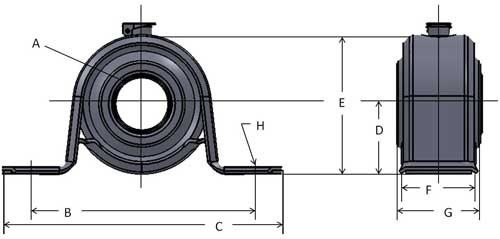 "7//8/"" BEH14A Extra Strength Pillow Block Mounted Bearing"