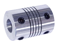 Flexible Parallel Aluminium Jaw Shaft CNC Coupling D19-L25-3X4MM