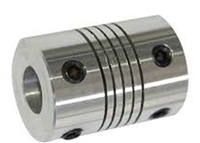 Flexible Parallel Aluminium Jaw Shaft CNC Coupling D19-L25-5x6.35mm