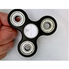 Black  Fidget Hand Spinners Toy with Center ZrO2 Ceramic Bearing, 2 silver caps and 3 Shielded Bearings