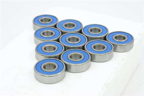 "1//4/"" x 3//8/"" x 1//8/"" R168-2RS 10 Pcs Rubber Sealed Ball Bearing Bearings R168"