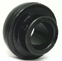 "UC206-18-BLK Oxide Plated Plated Insert 1 1/8"" Bore Ball"