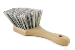 BODY & WHEEL FLAGGED TIP SHORT HANDLE GREY BRUSH