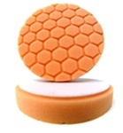 4 Inch Hex-Logic ORANGE Light Cutting Cut & Scratch Remover Pad