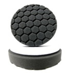4 Inch Hex Logic Pad - BLACK Heavy Finishing Pad
