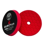 6.5 inch HEX-LOGIC QUANTUM RED ULTRA LIGHT FINISHING PAD
