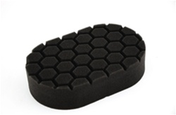 Hex-Logic Finishing Hand Applicator Pad, black (3 x 6 x 1 Inch)