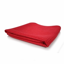 Red Glass and Window Waffle Weave Towel