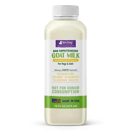 Raw Goat Milk for Dogs & Cats, 16 oz