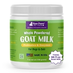 Raw Paws Goat Milk Supplement Powder for Dogs & Cats, 7 oz