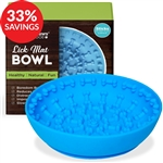 Slow Feeder Lick Mat Bowl for Dogs & Cats (Bundle Deal)