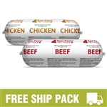 Raw Paws Complete Beef & Chicken Free Ship Pack, 20 lbs