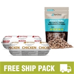 Raw Paws Complete Beef & Chicken Free Ship Pack, 10 lbs