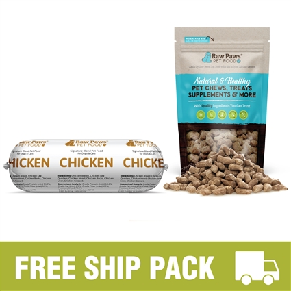 Raw Paws Complete Chicken Free Ship Pack, 10 lbs