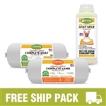 Raw Paws Complete Goat & Lamb Free Ship Pack, 8 lbs
