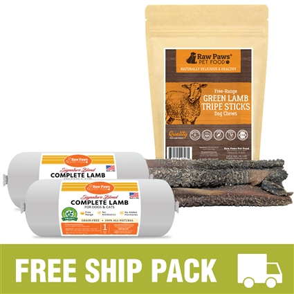 Raw Paws Complete Lamb Free Ship Pack, 8 lbs