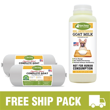Raw Paws Complete Goat Free Ship Pack, 8 lbs
