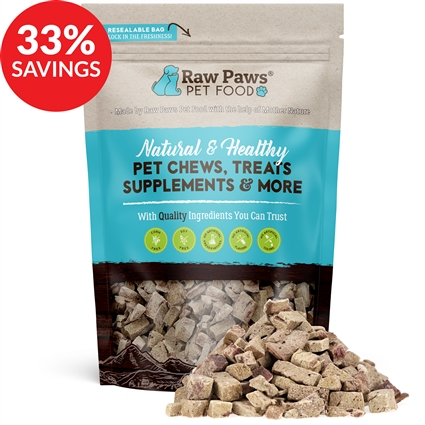 Raw Paws Freeze Dried Beef Liver Treats for Dogs & Cats (Bundle Deal)
