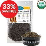 Grain-Free Organic Chicken Nutrient Rich Kibble for Dogs (Bundle Deal)