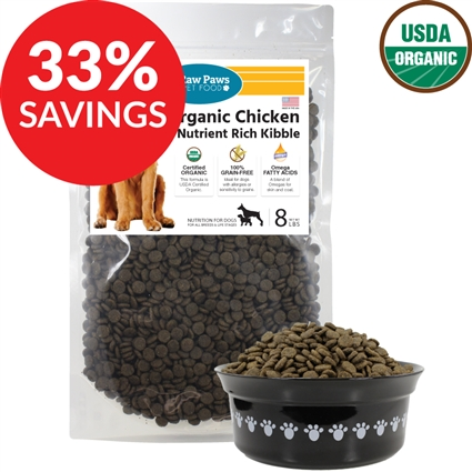 Raw Paws Organic Chicken Grain-Free Nutrient Rich Kibble for Dogs (Bundle Deal)
