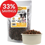 Grain-Free Organic Chicken Kibble Infused with Freeze-Dried Complete Chicken, 8 lbs