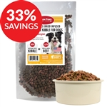 Raw Paws Grain-Free Beef Kibble Infused with Raw Freeze Dried Complete Beef (Bundle Deal)